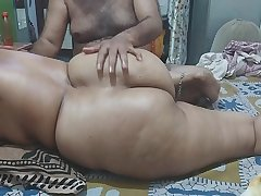 Desi massage sex with big ass chubby bhabhi with husband